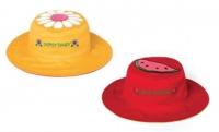 Flapjackkids wendbarer Sonnenhut mit UV-Schutz - Blümchen/ Wassermelone