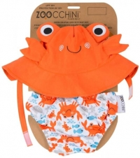 Zoocchini Badewindel & Sonnenhut - Krabbe