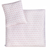 Julius Zöllner Jersey Baby-Bettwäsche, Triangel Pink