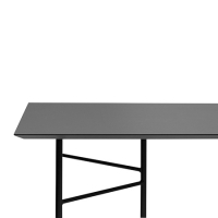 Ferm Living Tisch in Charcoal, 210 cm (div. Beinfarben)