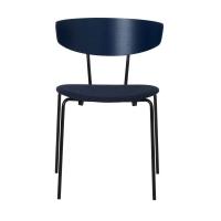 Ferm Living Herman Stuhl mit Sitzkissen - Dark Blue