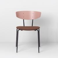 Ferm Living Herman Stuhl mit Sitzkissen - Rose/ Rust