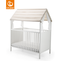 STOKKE Home Bettzelt Bed Tent, Beige Stripe