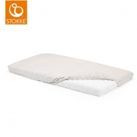 STOKKE Home Bed Matratzenbezug 2 Stk. White / Beige Checks