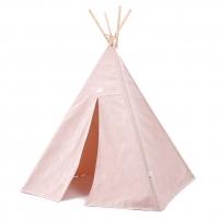 NOBODINOZ Tipi-Zelt Phoenix, White Bubble/ Misty Pink