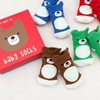 Rex London 4 Paar Baby Socken, Bär