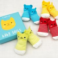 Rex London 4 Paar Baby Socken, Kätzchen