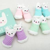 Rex International 4 Paar Baby Socken, Häschen