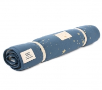 NOBODINOZ Wickelunterlage NOMAD, Gold Stella/ Night Blue