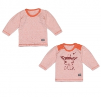 Snoozebaby Pullover, Zweiseitig, Deer Poppy Red