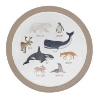 Sebra Melamin-Menüteller, Arctic Animals