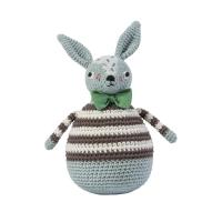 Sebra Häkel-Stehaufmännchen, Kaninchen Robert