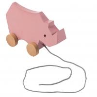 Sebra Nachziehspielzeug, Nashorn, Altrosa