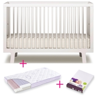 Oeuf NYC Sparrow Babybett in Weiss - Special set