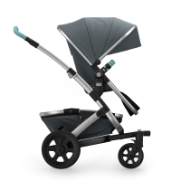 JOOLZ Geo2 Tailor Kinderwagen, Basis Grey, Chassis Silber - Special Set