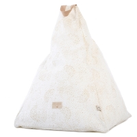 Nobodinoz Sitzsack Marrakech, Gold Bubble/ White
