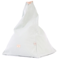 Nobodinoz Sitzsack Marrakech, White Bubble/ Aqua