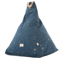 Nobodinoz Sitzsack Marrakech, Gold Stella/ Night Blue