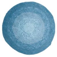 Sebra Häkelteppich, Gradient Blau