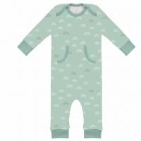 Fresk Babypyjama Bio-Baumwolle, Rainbow ether blue