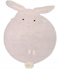 Lorena Canals Kinderteppich aus Wolle, Chubby The Bunny