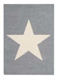 Lorena Canals Kinderteppich aus Wolle, Star Grau