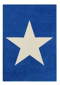 Lorena Canals Kinderteppich aus Wolle, Blau
