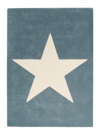 Lorena Canals Kinderteppich aus Wolle, Vintage Blue