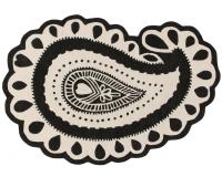 Lorena Canals Kinderteppich aus Wolle, Gita Black&White