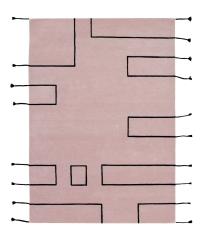 Lorena Canals Kinderteppich aus Wolle, Nordic Lines Vintage Nude