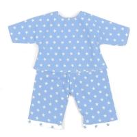 Sugarapple Puppen-Schlafanzug, Hellblau / Sterne Weiss