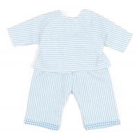 Sugarapple Puppen-Schlafanzug, Streifen Hellblau