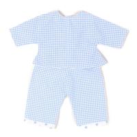 Sugarapple Puppen-Schlafanzug, Karo Hellblau
