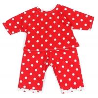 Sugarapple Puppen-Schlafanzug, Pünktchen Fliegenpilz