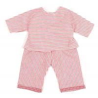 Sugarapple Puppen-Schlafanzug, Streifen Rot