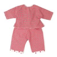 Sugarapple Puppen-Schlafanzug, Karo Rot