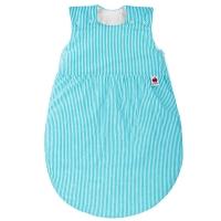 Sugarapple Schlafsack, Wattiert, 50-110 cm, Streifen Türkis