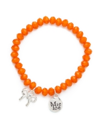 Proud MaMa Armband, Schleife Orange