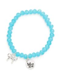 Proud MaMa Armband, Schleife Blau