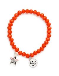 Proud MaMa Armband, Stern Orange