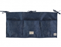 NOBODINOZ Betttasche Merlin, Gold Bubble/ Night Blue