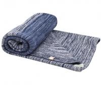 Snoozebaby Gestrickte Baumwolldecke Stylish Cocooning (100x150) Indigo Blue