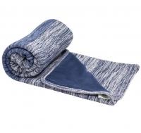 Snoozebaby Gestrickte Baumwolldecke Zweischichtig (100x150) Indigo Blue