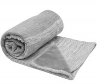 Snoozebaby Gestrickte Baumwolldecke Zweischichtig (100x150) Storm Grey