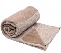 Snoozebaby Gestrickte Baumwolldecke Zweischichtig (75x100) Taupe