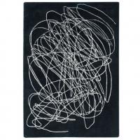 Lorena Canals Kinderteppich aus Wolle, Scribble Black & White