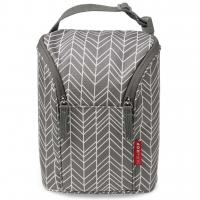 Skip Hop Double Bottle Bag, Grey Feather