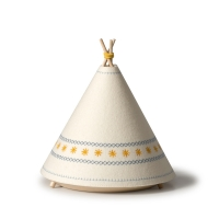 BUOKIDS Stehlampe Tischlampe Tipi, Gelb