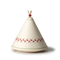 BUOKIDS Stehlampe Tischlampe Tipi, Rot