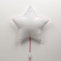 BUOKIDS Wandlampe Soft Stern, Pink